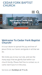 Mobile Preview of cedarforkbaptist.org