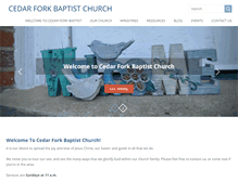 Tablet Preview of cedarforkbaptist.org